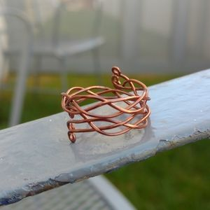 Copper Braided Ring